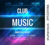 club music poster template.... | Shutterstock .eps vector #395335486