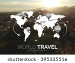 vector template. world map on...   Shutterstock .eps vector #395335516