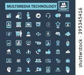 multimedia technology icons  | Shutterstock .eps vector #395345416