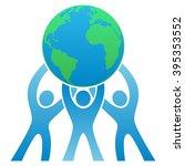 teamwork earth logo | Shutterstock .eps vector #395353552