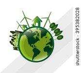 save world design | Shutterstock .eps vector #395382028
