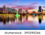 orlando  florida  usa downtown... | Shutterstock . vector #395390266