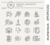 vector line icons with medical... | Shutterstock .eps vector #395392102