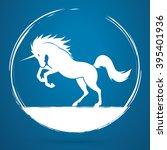 unicorn silhouette graphic...   Shutterstock .eps vector #395401936