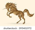 unicorn silhouette designed...   Shutterstock .eps vector #395401972