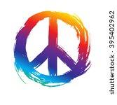 peace symbol. peace hippie... | Shutterstock .eps vector #395402962