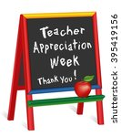 teacher appreciation week... | Shutterstock .eps vector #395419156