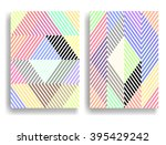 abstract geometric pattern with ... | Shutterstock .eps vector #395429242