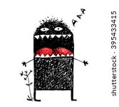 ugly character monster... | Shutterstock .eps vector #395433415
