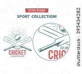 Cricket Vector Logo Icon Desig...