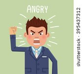 illustration of an angry... | Shutterstock .eps vector #395437312