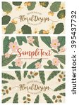 set of banners with floral... | Shutterstock .eps vector #395437732