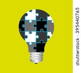 puzzle icon design    Shutterstock .eps vector #395440765