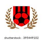 soccer sport emblem heraldic...   Shutterstock .eps vector #395449102