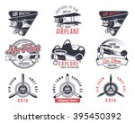 vector old fly stamps. travel... | Shutterstock .eps vector #395450392