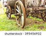 Old Horse Drawn Wooden Cart In...