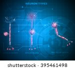 neuron types  cells that is the ... | Shutterstock .eps vector #395461498