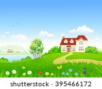 vector cartoon illustration of... | Shutterstock .eps vector #395466172