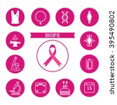 breast cancer awareness ribbon... | Shutterstock .eps vector #395490802