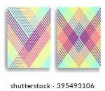 Stock vector abstract geometric pattern with stripes seamless texture in different colors can be used for 395493106