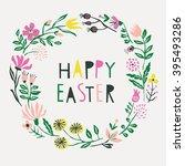 happy easter. print design | Shutterstock .eps vector #395493286