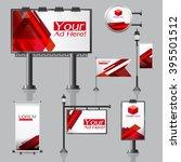 vector outdoor advertising... | Shutterstock .eps vector #395501512