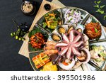 korean food  seafood dishes | Shutterstock . vector #395501986