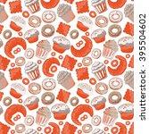 vector food bakery seamless... | Shutterstock .eps vector #395504602