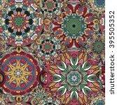 seamless pattern. vintage... | Shutterstock .eps vector #395505352