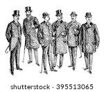 vintage hand drawn gentleman... | Shutterstock . vector #395513065