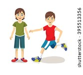 boy vector. character. child.... | Shutterstock .eps vector #395513356
