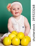 little nice girl with big... | Shutterstock . vector #395523268