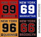 new york districts basketball... | Shutterstock . vector #395531152