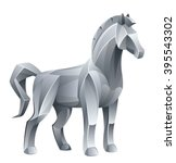 iron horse | Shutterstock .eps vector #395543302