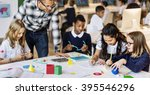classroom learning mathematics... | Shutterstock . vector #395546296