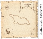 old pirate map of georgia.... | Shutterstock .eps vector #395555212