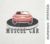 auto service set. rent a car.... | Shutterstock .eps vector #395555326