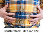 close up of man suffering from... | Shutterstock . vector #395564422