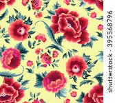 beautiful spanish floral print  ... | Shutterstock .eps vector #395568796