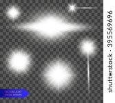 lights effect  flare  explosion ... | Shutterstock .eps vector #395569696