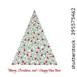 merry christmas and happy new... | Shutterstock . vector #395575462