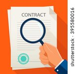 vector business contract and... | Shutterstock .eps vector #395580016