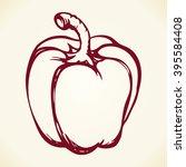 ripe juicy fresh raw sappy red... | Shutterstock .eps vector #395584408