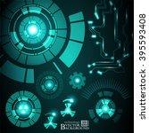 hi tech digital technology... | Shutterstock .eps vector #395593408