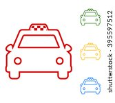 taxi sign. set of line icons | Shutterstock .eps vector #395597512