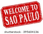 welcome to sao paulo red square ... | Shutterstock .eps vector #395604136