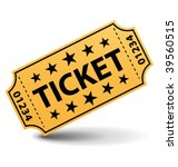 yellow ticket. vector... | Shutterstock .eps vector #39560515