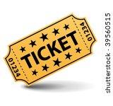 yellow ticket. vector... | Shutterstock .eps vector #39560515