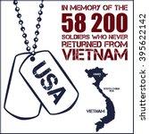 vietnam war. remembrance day.... | Shutterstock .eps vector #395622142