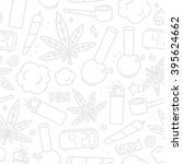 marijuana weed cartoon seamless ...   Shutterstock .eps vector #395624662